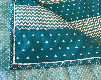 Turquoise Baby Quilt