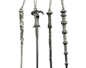 Harry Potter Wand Necklace - Elder Wand/Voldemort, Albus Dumbledore, Harry, & Hermione Granger // Harry Potter Jewelry // Hermione Necklace