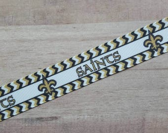 """7/8"""" Ribbon by the Yard - New Orleans Saints"""