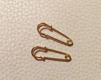 Funky Safety pin craft deco stud earrings
