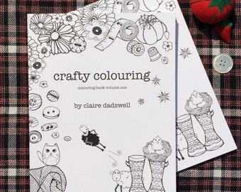 Crafty Colouring Book for crafters and fans of retro designs