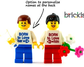 Personalised engraved LEGO® set Born To Love for Valentine's day