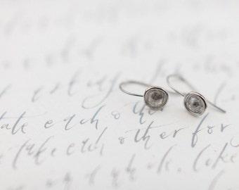 Grey Rose cut diamond earrings in 9ct white gold