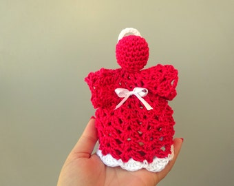 "Crochet angel - Home decoration or to remember someone dear <3 - Up to 15 cm (6"")"