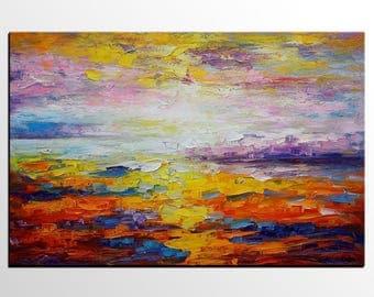 Large Abstract Art, Abstract Painting, Oil Painting, Canvas Art, Abstract Landscape Painting, Abstract Art, Canvas Art, Wall Art, Modern Art