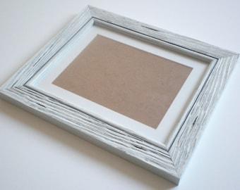 "Picture frame 8x10"" rustic frame driftwood frame distressed frame shabby chic frame RusticFrameShop"