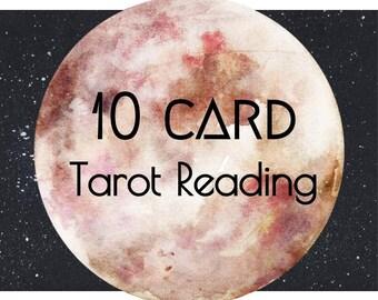 tarot reading, 10 card tarot reading, tarot card reading
