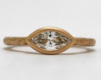 Tempting Tanzanite Triangular Diamond Halo Ring White Gold Art