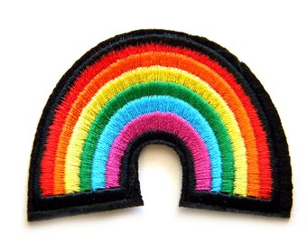 Rainbow Embroidered Patch Appliqué