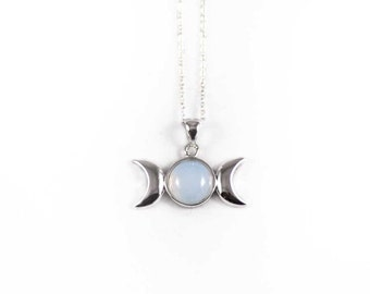 Opalite Triple Goddess Necklace