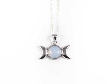 Opalite Triple Goddess Necklace