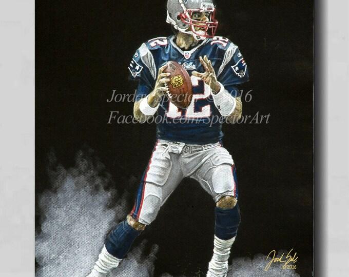 Patriots - New England - Tom Brady - Canvast Print - Wall Art - Patriots - Man Cave Art - Patriot Decor - Dorm Decor - Patriots art