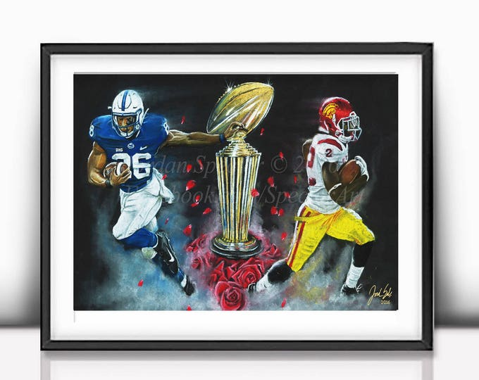 """Rose Bowl """"East vs. West"""" open edition art print - 16x20 inches"""