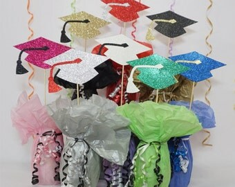 Graduation Cap, Available in 8 Glitter Card Stocks, Graduation Hat, Graduation Centerpiece Sign, Graduation Decoration