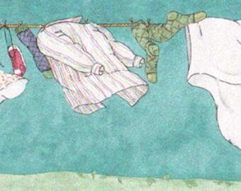 Laundry Line  858210 Wallpaper Border