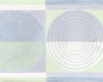 Blue Green Circles Squares CT78162 Wallpaper Border