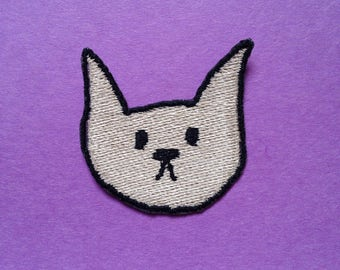 Cat Head Iron-on Patch