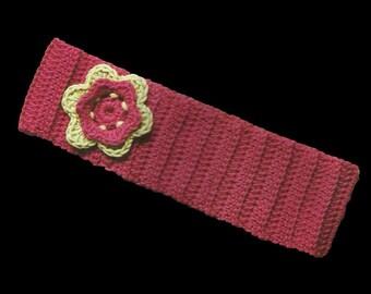 Crochet Flower Headband ( PDF Crochet Pattern