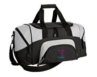 Gymnastics Gym Bag - Personalized - Monogrammed - Embroidered - Sports Bag - Sports Gift - Gymnastics Duffle Bag - BG99