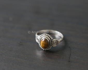 Tiger eye Ring, Tiger Eye 925 Silver Ring, Silver ring
