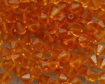 Swarovski 4mm Bicone Faceted Crystal Beads - TOPAZ - Select 10, 20, 50 or 100
