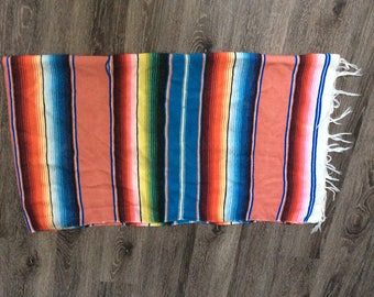 Rose Gold Authentic Mexican Blanket