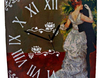 Wall clock wedding dance / Wall clock picture Decor / Vintage decor /Decoupage wall clock/
