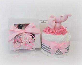 Onesie Cupcake, Baby Girl Gift, Baby Shower Gift, Pregnancy Gift, Diaper Cake, Cupcake Onesie, Washcloth Animals, Unique Baby Gift