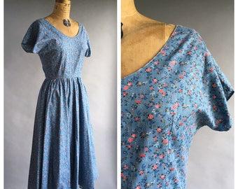 Nordstrom Brass Plum Calico Print Dress