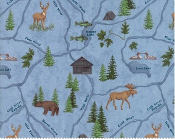 RIVER JOURNEY by Holly Taylor for Moda Camping Fabrics 6682 12 number 1