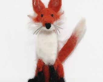 Fox needle felting kit/ How to needle felt/ Handmade gift/ Needle felted fox