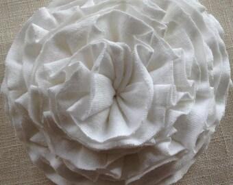 Big White Ruffle Flower