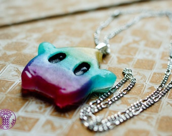 Rainbow Glittery Luma Necklace - Nickel free