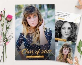 Graduation Announcements,Senior Graduation Announcement Template for Photographers GRAD001
