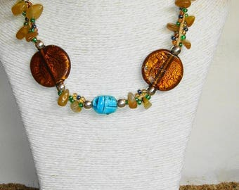 Green Performance scarab necklace