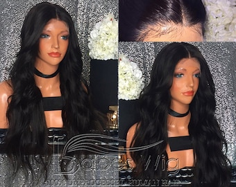 BabesWIG Long Wavy Lace Front Human Hair Wigs,Unprocessed Human Hair Lace Front Wigs Free Shipping