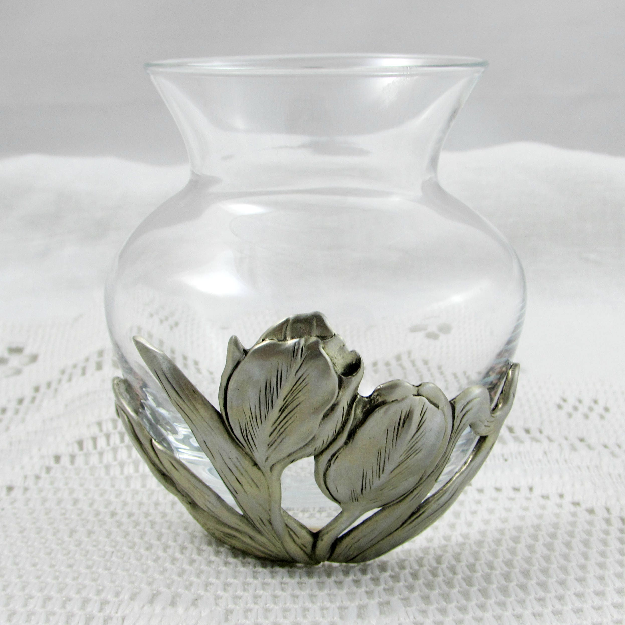Seagull pewter flower vase tulips small vase vintage 325 inch seagull pewter flower vase tulips small vase vintage 325 inch tall glass vase reviewsmspy