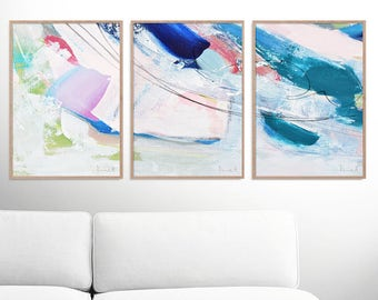 Abstract Art Print Set, Set of 3 Prints, digital downloads, Printable Abstract, instant download, each one 50x70 cm size, Art set of 3