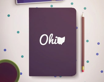 Ohio Black Journal Notebook Sketchbook