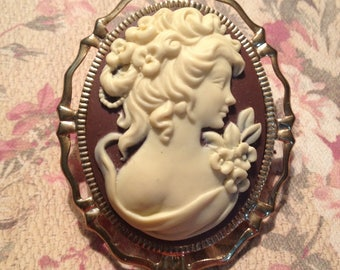 Victorian Ivory Lady Cameo