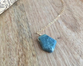 Aquamarine Necklace - Aquamarine Pendant Necklace  - Aquamarine Jewelry - Aquamarine