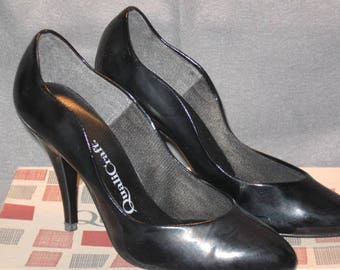 Vintage QualiCraft Pumps, Ladies Pumps, Black Patent Leather Pump, Vintage Pumps, Women's Heels, Dress Pumps, Ladies Shoes, Leather Pumps