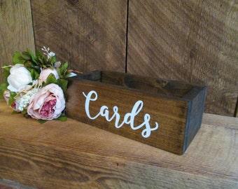 Card Box Wood Rustic Wedding Decor