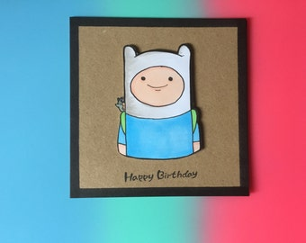Finn the human birthday card