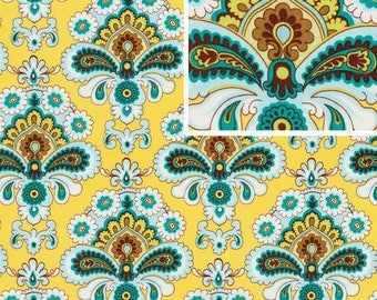 Amy Butler Fabric French Walpaper Mustard 100% Cotton Amy Butler Stash Belle Collection