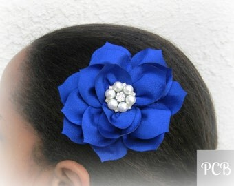 Wedding Fascinator, Wedding Hair Clip, Bridal Hair Clip, Bridal Fascinator, Pearl and Crystal Rhinestone Hair Pin, Flower Girl Hair Clips