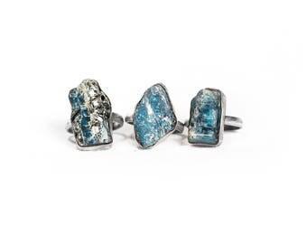 Custom size made to order Aqua Ocean Kyanite Silver Ring