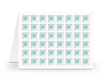 Layered Square PaperCut Card , Blank inside , Free Confetti , Flourish , Men , Women , Teens , Kids , All Occasion
