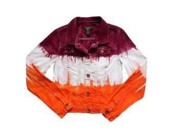 Orange + Maroon Tie-Dye Jacket
