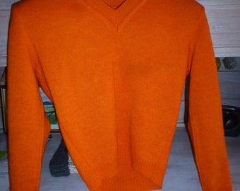 orange vintage sweater 80'